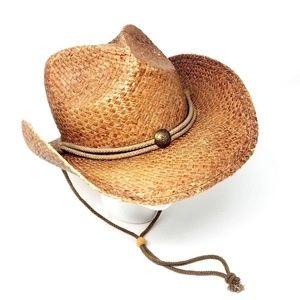 Peter Grimm Cowboy Cowgirl Hat Straw Western